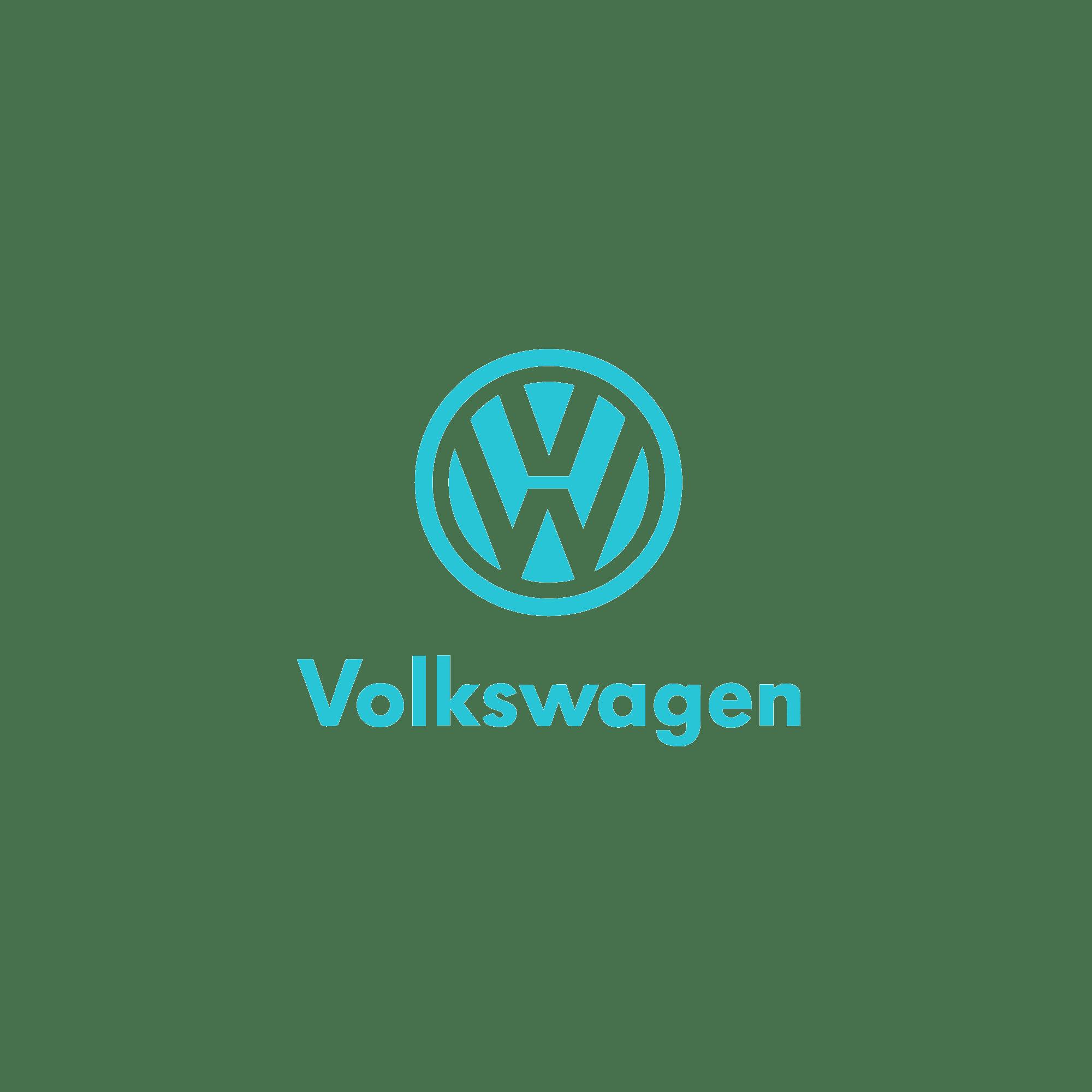 16zu9 vw volkwagen logo türkis
